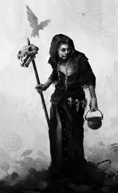 """The Badb (Old Irish) —meaning """"crow""""—is a war goddess who takes the form of a crow, and is thus sometimes known as Badb Catha (""""battle crow""""). She is known to cause fear and confusion among soldiers to move the tide of battle to her favoured side. Badb may also appear prior to a battle to foreshadow the extent of the carnage to come, or to predict the death of a notable person. She would sometimes do this through wailing cries, leading to comparisons with the bean-sídhe (banshee)."""