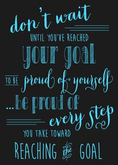 Don't WAIT until you've reached your goal to be proud... Be proud you are making changes now! Plexus helped me!!! Ambassador ID# 387632