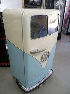 I never knew there was one VW fridge and in less than a week I find TWO! I would definitely love one of these. Great for the game room or for beer and drinks in the garage.