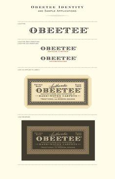 Obeetee Rugs brand identity // Sandstrom Partners