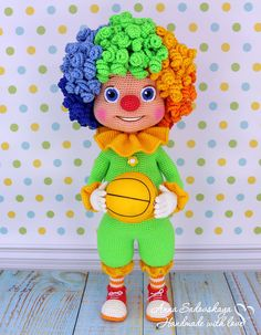 Clown Semitsvetik  Amigurumi Crochet Pattern PDF file by Anna