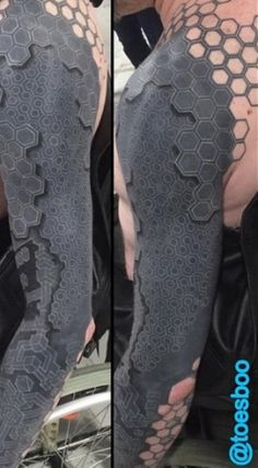 The Guy With the 3D Robot Tattoo: Futuristic Body Art
