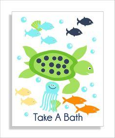 Child Bathroom Art   Child Bathroom Decor   Frog Bathroom Art   Frog Bathroom  Decor   Bathroom Rules   Green Blue   Pick The Size (NS 339) | House Decor  ...