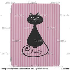 Shop Funny trendy whimsical cartoon cat personalized iPad smart cover created by Makidzona. Ipad Covers, Colorful Backgrounds, Funny Cats, Whimsical, Cartoon, Funny Kitties, Cartoons, Comic, Funny Cat Photos