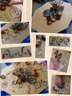 """Fine motor fun, creativity & mathematical thinking on a table full of line-designs... from Rachel ("""",)"""