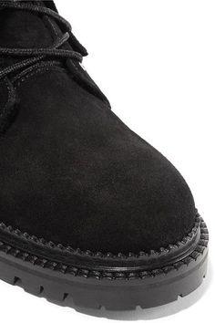Jimmy Choo - Elba Shearling-lined Suede Boots - Black - IT