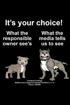 So true! #StaffordshireBullTerrier,  sadly this seems to be true, but totally unjustified. However genuine owners know this.