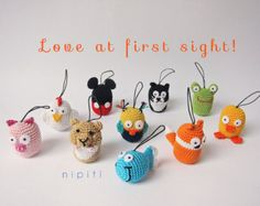 Crochet keychains - PICK AND MIX - free shipping