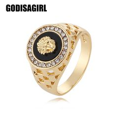 2017 New Arrival mens ring top fashion hip pop Medusa Head Gold Silver Color Black males man Finger ring for men women Size 7-12 //Price: $9.95 & FREE Shipping // #DRONES
