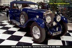 WORLDS MOST EXPENSIVE AUTOMOBILES - 4 - 1930 BENTLEY SPEED 6