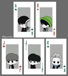 Fan Art of SHINee's playing cards concert goods