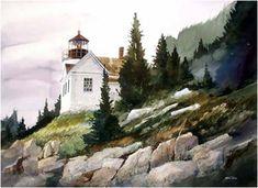 """Standing Guard"" - by John Ebner.... ~Watercolor"