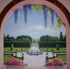 Risultati immagini per finestre dipinte sul muro