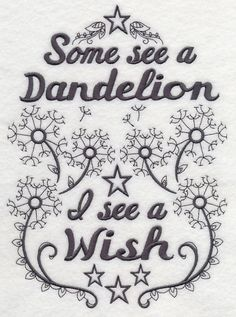 Some See A Dandelion design (M7295) from www.Emblibrary.com