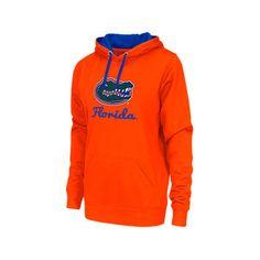 Women's Florida Gators College Pullover Hoodie ($30) ❤ liked on Polyvore featuring tops, hoodies, orange, hoodies pullover, hoodie pullover, orange hoodie, long hoodie and orange hooded sweatshirt