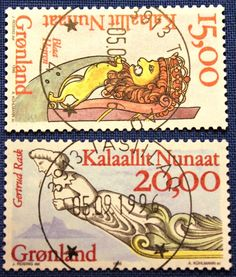 Sailing Ship Figure Heads. Stamps printed in Greenland , 1996