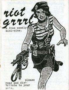 a great Riot Grrl zine cover Riot Grrrl, Punk Art, Kathleen Hanna, Rock Revolution, Warrior Spirit, Comic Character, Girl Humor, Artsy, Drawings