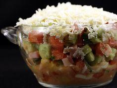Salata+bulgareasca Hungarian Recipes, Baked Potato, Tacos, Good Food, Veggies, Appetizers, Mexican, Cooking Recipes, Ethnic Recipes