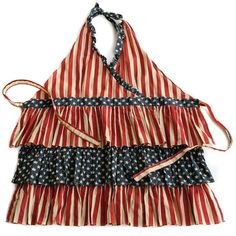 Betsy Ruffled apron will put in in the USA spirit for Independence Day! Red, white & blue / stars and stripes / americana / uncle sam / of July apron Ruffle Apron, Linen Apron, Retro Apron, Aprons Vintage, Oncle Sam, Homemade Aprons, Waitress Apron, Flirty Aprons, Joanna Gaines Style