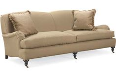3278-32  Two Cushion Sofa    Overall: W87 D42 H34  Inside: W75 D27 H20  Seat Height: 18 Arm Height: 21 Back Rail Height: 34  Fabric / ...