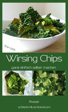 low carb Wirsingchips ganz einfach selber machen Das sind wohl die Knusprigsten unter den Gemüsechips. Je heller die Blätter und intensiver die Gewürze, um so weniger schmeckt man den Wirsi…