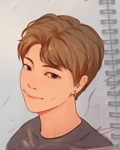 Bts Anime, Anime Boys, Anime Art Girl, Kpop Drawings, Cartoon Drawings, Bts Paris, Chibi Bts, Kpop Fanart, Rap Monster