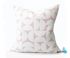 KUUSHTI ------------   Product: S I V | P I N K  Gorgeous pink geometric pillow cover in minimalist Scandinavian style. Perfect for a girls room or a peaceful modern setting.  Details:  Available in 1-2 working days 18 x 18 | 45 x 45cm approx Hand Made to order & zipped 100% High Quality