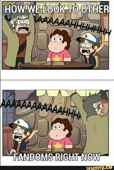 Gravity Falls, Steven Universe. Original drawing by Markmak