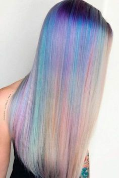 Best Hairstyles & Haircuts for Women in 2017 / 2018 Image Description Neon and pastel, light and dark rainbow hair colors are all the rage nowadays. Explore visible and hidden rainbow ombre and highlights ideas. Cute Hair Colors, Hair Dye Colors, Ombre Hair Color, Cool Hair Color, Hidden Hair Color, Pastel Colors, Best Ombre Hair, Blond Ombre, Brown Ombre Hair