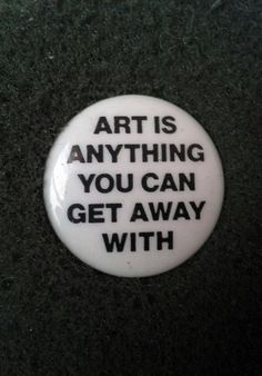 Unworn Retro 1980s Pinback Button Art is anything you