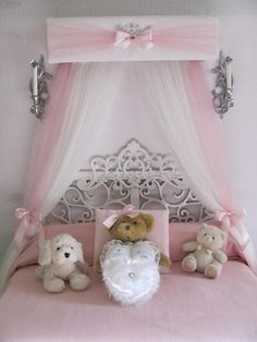 [Canony Bed DIY Ideas] Crib canopy Nursery cornice BED teester FULL Twin Queen 30 inch White Pink Padded Tiara Crown Silver or GOLD So Zoey Boutique Sale Princess Bedroom Decor You can get additional details at the image link. Shabby Chic Bedrooms, Shabby Chic Homes, Shabby Chic Furniture, Shabby Chic Decor, Cheap Furniture, Girl Room, Girls Bedroom, Bedroom Decor, Bedroom Furniture