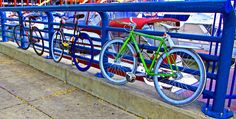 Bicycle Parking Along The Delaware River | Love's Photo Album