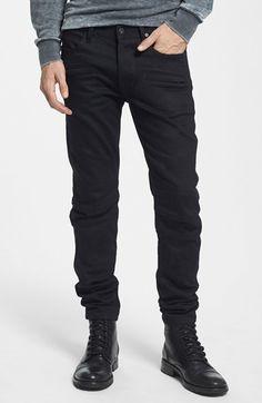 Mens Fashion Night Out Denim Skinny Jeans, Black Jeans, Moto Jeans, Dapper Men, Raw Denim, Best Jeans, Fashion Night, Well Dressed Men, Hudson Jeans