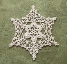 Irish crochet snowflake