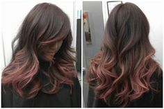 black to rose gold hair - Google Search