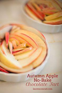 Autumn Apple No-Bake Chocolate Tart