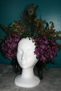 Tribal Bellydance Burlesque Mardi Gras Headdress by EtherealSkye, $190.00