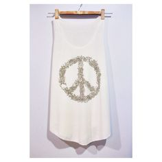 Peace Symbol Tank Top Woman White Cream T-Shirt Tee Shirt Singlet Vest BUY 2 GET 1 FREE by pingypearshop on Etsy https://www.etsy.com/listing/216521361/peace-symbol-tank-top-woman-white-cream