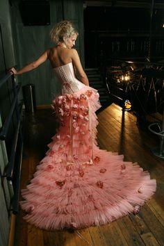 Pure silk corset, handmade by Irena Gasha, 2004