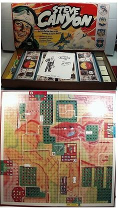 Vintage 1959 STEVE CANYON USAF Air Force Board Game, Lowell, Fun family game!