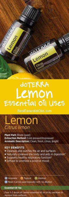 doTERRA Lemon Essential Oil Uses