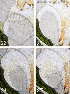 Magnolia Stitch Along Part 4 Embroidery Needles, Crewel Embroidery, Cross Stitch Embroidery, Thread Painting, Crafty Craft, Sewing Hacks, Needlepoint, Quilt Patterns, Needlework