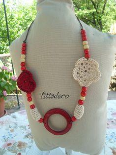 Tittadeco: collana rossa etnica