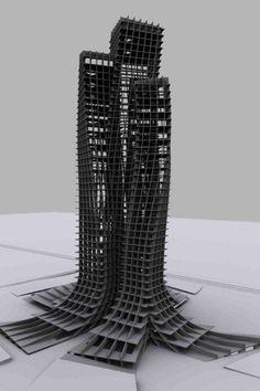 """macmankev: """" spatula: """" thechickenisbad: """" skyscraper: """" """" """" 'trans-city: nomadic corporations' from an Architecture Design Exhibition in Dubai """" """" Architecture Design, Parametric Architecture, Parametric Design, Concept Architecture, Gothic Architecture, School Architecture, Amazing Architecture, Architecture Diagrams, Architecture Portfolio"""