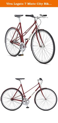 Viva Legato 7 Mixte City Bike, 700c Wheels, 53 cm Frame, Women's Bike, Red, 53 cm Frame. The Legato 7 Mixte is all the bike you want, simplicity on two wheels. With a Shimano 7 speed internal hub, fenders, CRMO Frame and multiple frame sizes, the Legato 7 Mixte will turn heads in your city. The Step through frame fits both men and women alike. Like all Viva Bikes, the Legato 7 Mixte is a work of art.