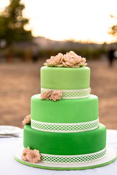 ombre green wedding cake with ivory peonies  Lace Top #2dayslook #LaceTop #ramirez701 #jamesfaith712  www.2dayslook.com
