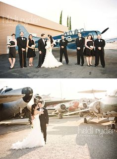 Aviation themed engagement shoot, would be super cute for Tyler & I, except wed use helicopters <3