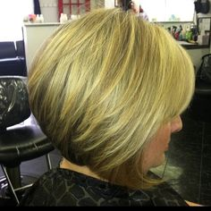 Inverted Bob Back View | 16 Chic Stacked Bob Haircuts: Short Hairstyles Ideas for Women ...