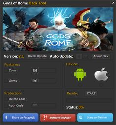 Gods Of Rome hack cheats android ios download         Brawl games inspired by the likes of Mortal Kombat X and Injustice: Gods Among Us, which takes place in the universe, combining elements of antiquity and mythology. The player takes the role of the gods, Titans and gladiators and rolls dynamic duels spectacular arenas - both in the solo campaign, as well as the network mode.