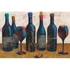 Wine Splash Light I Canvas Art - Wellington Studio (12 x 18)